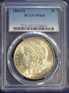 1884-O $1 Morgan Silver Dollar PCGS MS65- Deep Toning Reserve $229.95 See photo below for back of coin