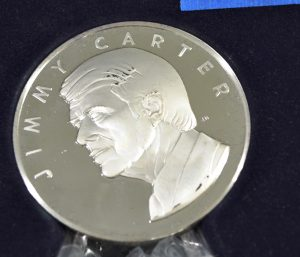 Franklin Mint Official 1977 Jimmy Carter Inaugural Medal 199.5G 8939-1 $169