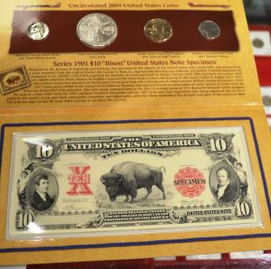 U.S. Mint Lewis & Clark Coinage & Currency Set 2004 8533-19 $135 See below photo